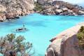 Maddalena archipelago, Caprera island, Cala Coticcio beach. Paradise on earth