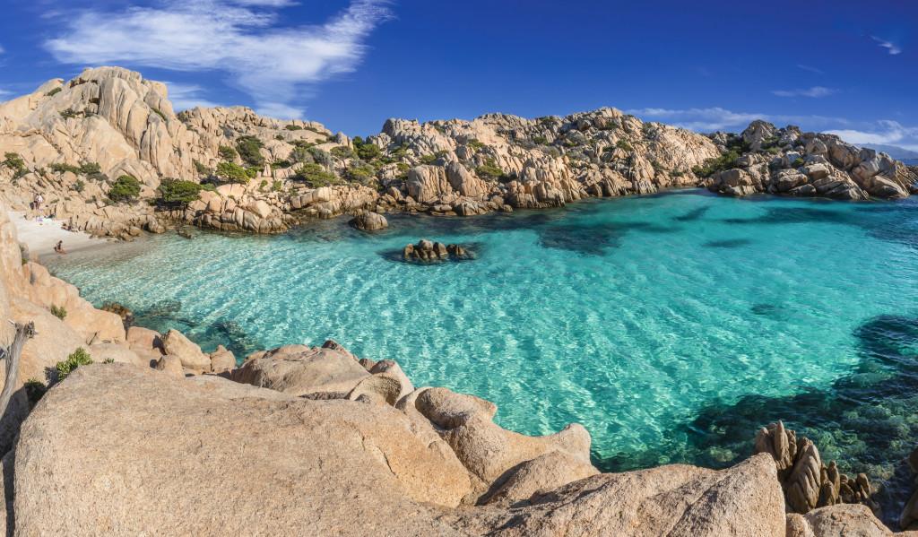 Cala Coticcio on the island of Caprera, located in the La Maddalena archipelago national park, Sardinia